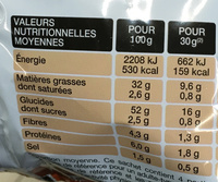 Chips Saveur Cheesburger - Nutrition facts - fr