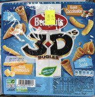 3D's Bugles goûts salé, emmental, cacahuète - Продукт