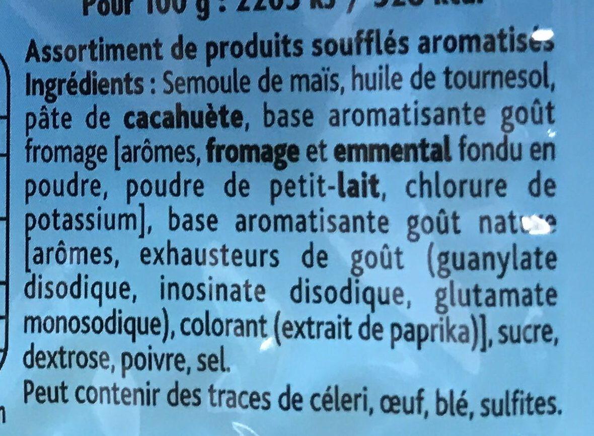 3D's Bugles goûts salé, emmental, cacahuète - Ингредиенты