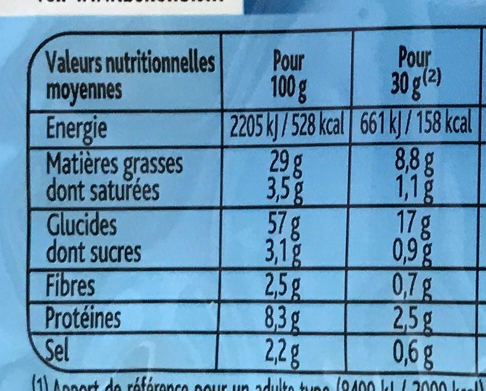 3D's Bugles goûts salé, emmental, cacahuète - Пищевая и энергетическая ценность