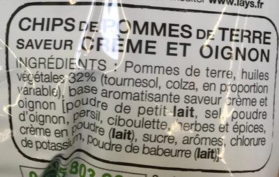Saveur Cream & Onion - Ingredients