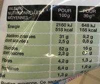 Saveur Cream & Onion - Nutrition facts