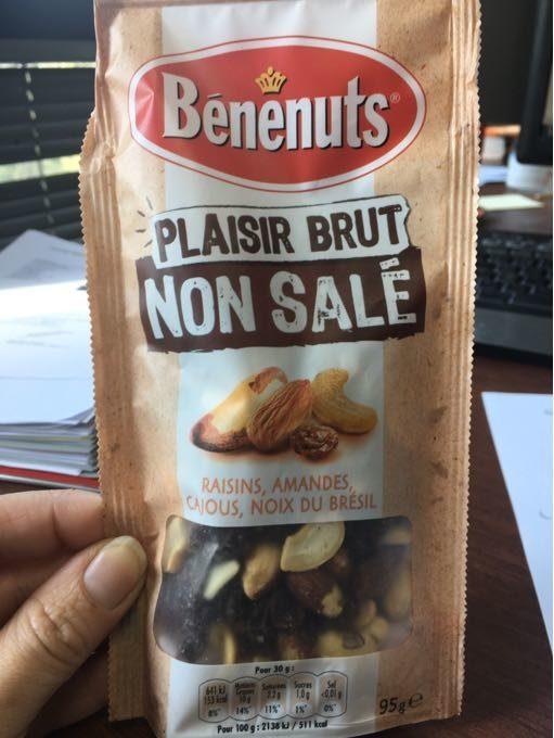 Plaisir Brut non salé 3 noix et raisins - Product