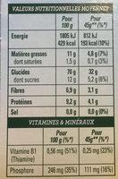 Golden Crisp Noisettes, amandes et graines de courge - Informations nutritionnelles - fr
