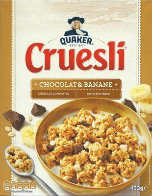 Cruesli chocolat et banane - Céréales complètes - Product - fr