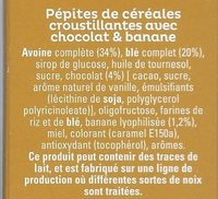 Cruesli chocolat et banane - Céréales complètes - Ingrediënten - fr