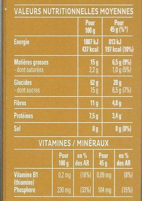 Cruesli chocolat et banane - Céréales complètes - Voedingswaarden - fr