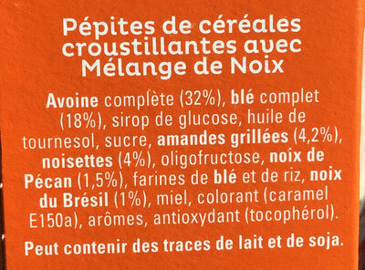 Cruesli Mélange de noix - Ingredients
