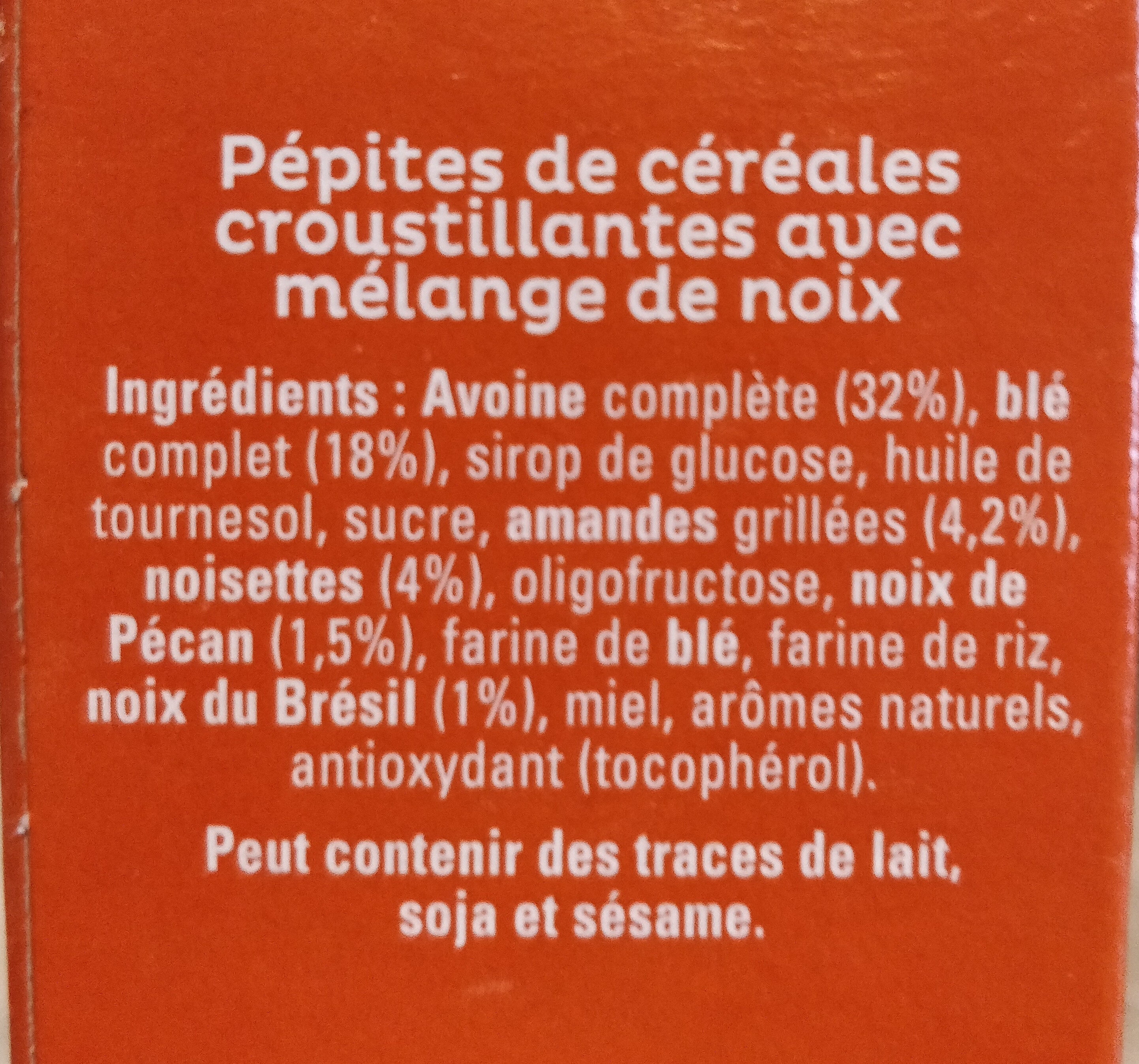 Cruesli Mélange de noix - Ingrediënten - fr