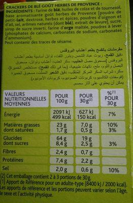 Apero cracks fins & fondants herbes provences - Ingredientes - fr