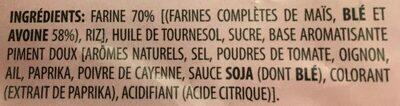 Sunbreaks Tuiles ondulées aux céréales sweet chili - Ingrediënten - fr