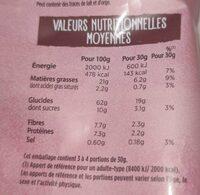 Sunbreaks Tuiles ondulées aux céréales sweet chili - Voedingswaarden - fr