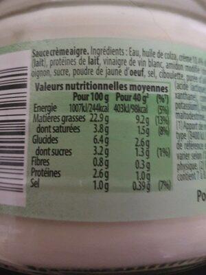 Doritos Sour cream - Informations nutritionnelles - fr