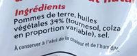 Chips nature - Ingredientes