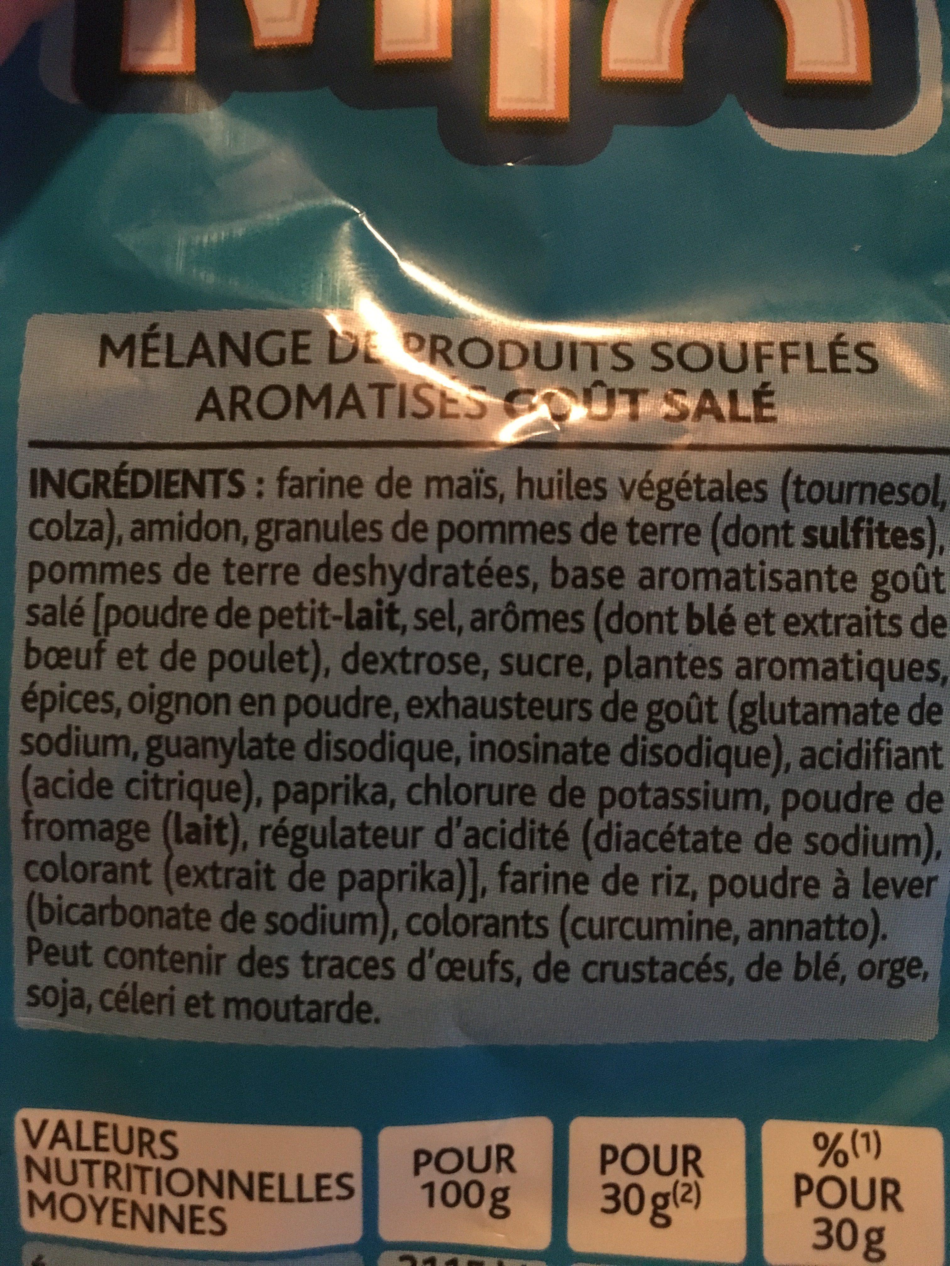 Mix goût Salé - Ingredients