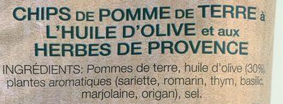 Chips méditerranéenne - Ingredients - fr