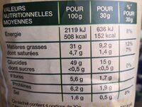 Chips méditerranéenne - Nutrition facts - fr