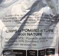 Chips nature maxi format - Ingrédients - fr