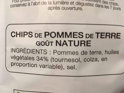 Chips - Ingrédients