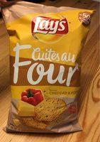 Chips Lay's Cuites Au Four Cheddar&Poivrons - Produit - fr