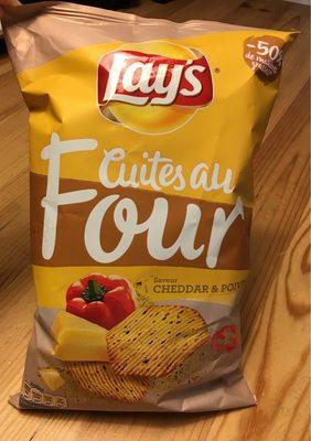 Chips Lay's Cuites Au Four Cheddar&Poivrons - Produit