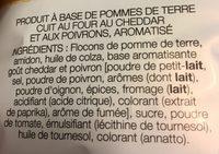 Chips Lay's Cuites Au Four Cheddar&Poivrons - Ingrédients - fr
