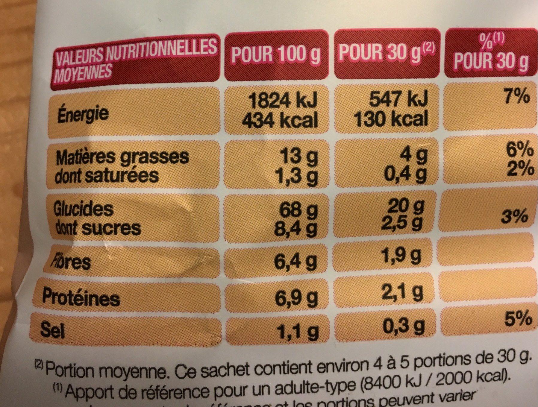Chips Lay's Cuites Au Four Cheddar&Poivrons - Informations nutritionnelles - fr
