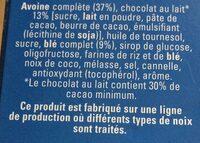 Quaker Cruesli Chocolat au lait format spécial - Ingrediënten - fr