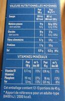 Quaker Cruesli Chocolat au lait format spécial - Voedingswaarden - fr