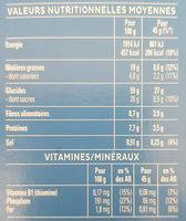 Cruesli Chocolat au Lait - Informations nutritionnelles - fr