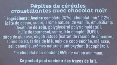 Quaker Cruesli Chocolat noir maxi format - Ingredienti - fr