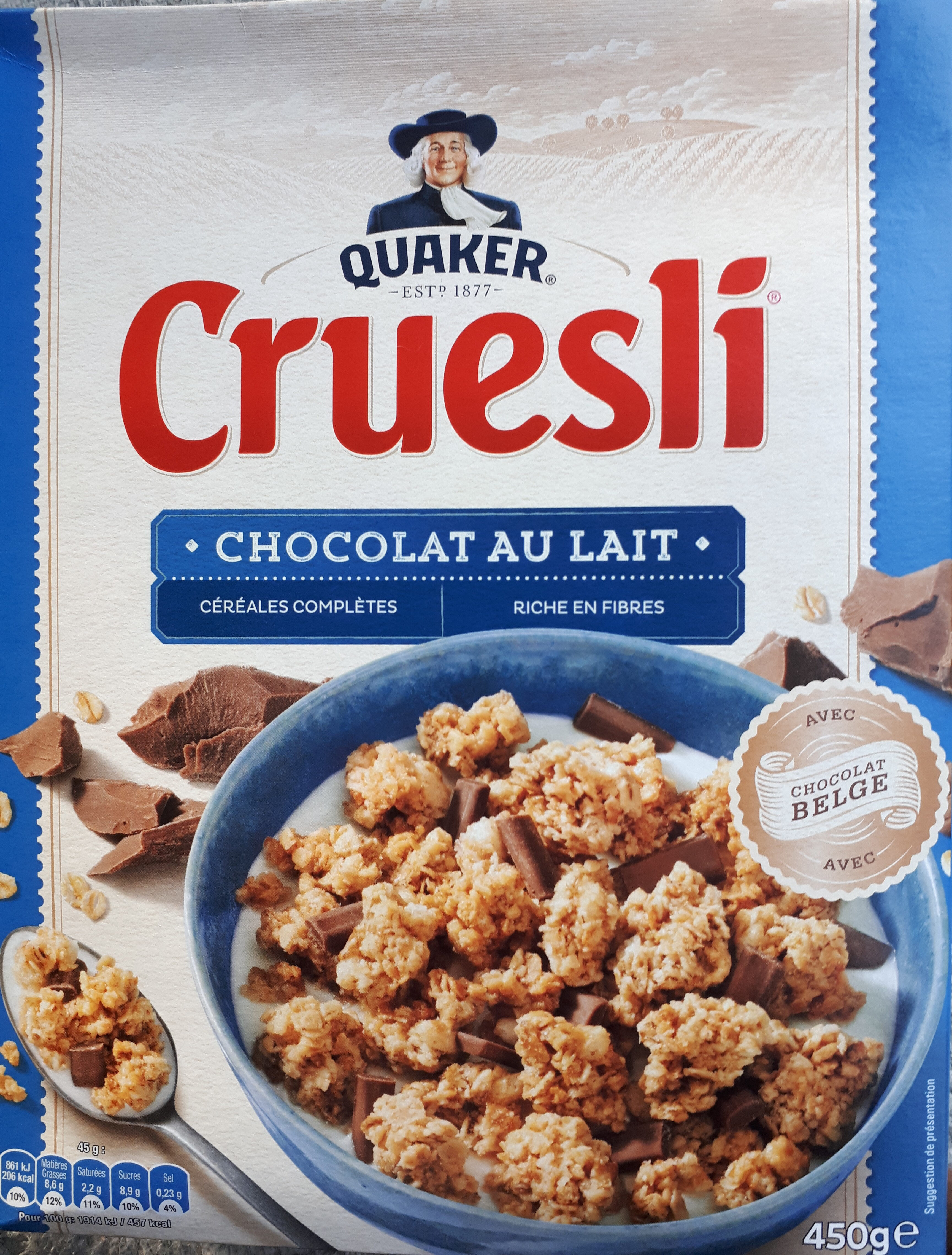 Quaker Cruesli Chocolat au lait - Producto - fr