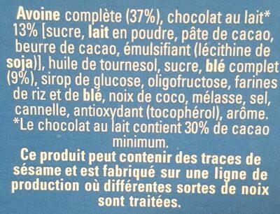 Cruesli chocolat au lait - Ingredients - fr