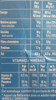 Cruesli chocolat au lait - Nutrition facts - fr