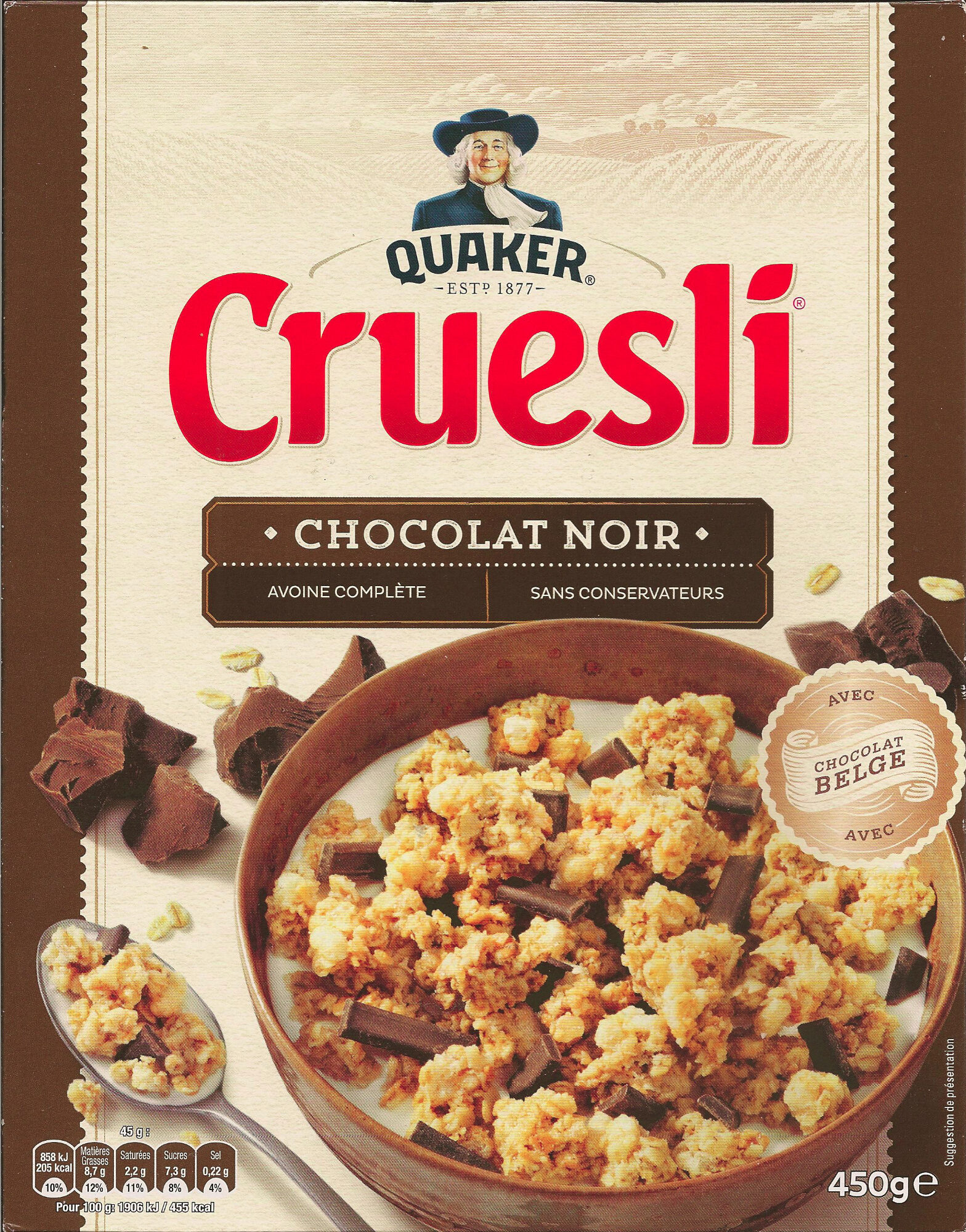 Cruesli chocolat noir - Produit - fr
