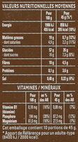 Cruesli chocolat noir - Nutrition facts - fr
