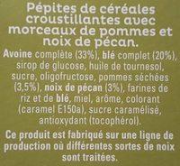 Cruesli Noix de Pécan & Pomme - Ingredients