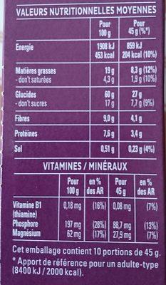 Quaker Cruesli Crispy chocolat - Informations nutritionnelles - fr