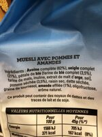 Golden Muesli (pommes, amandes) - Ingredients
