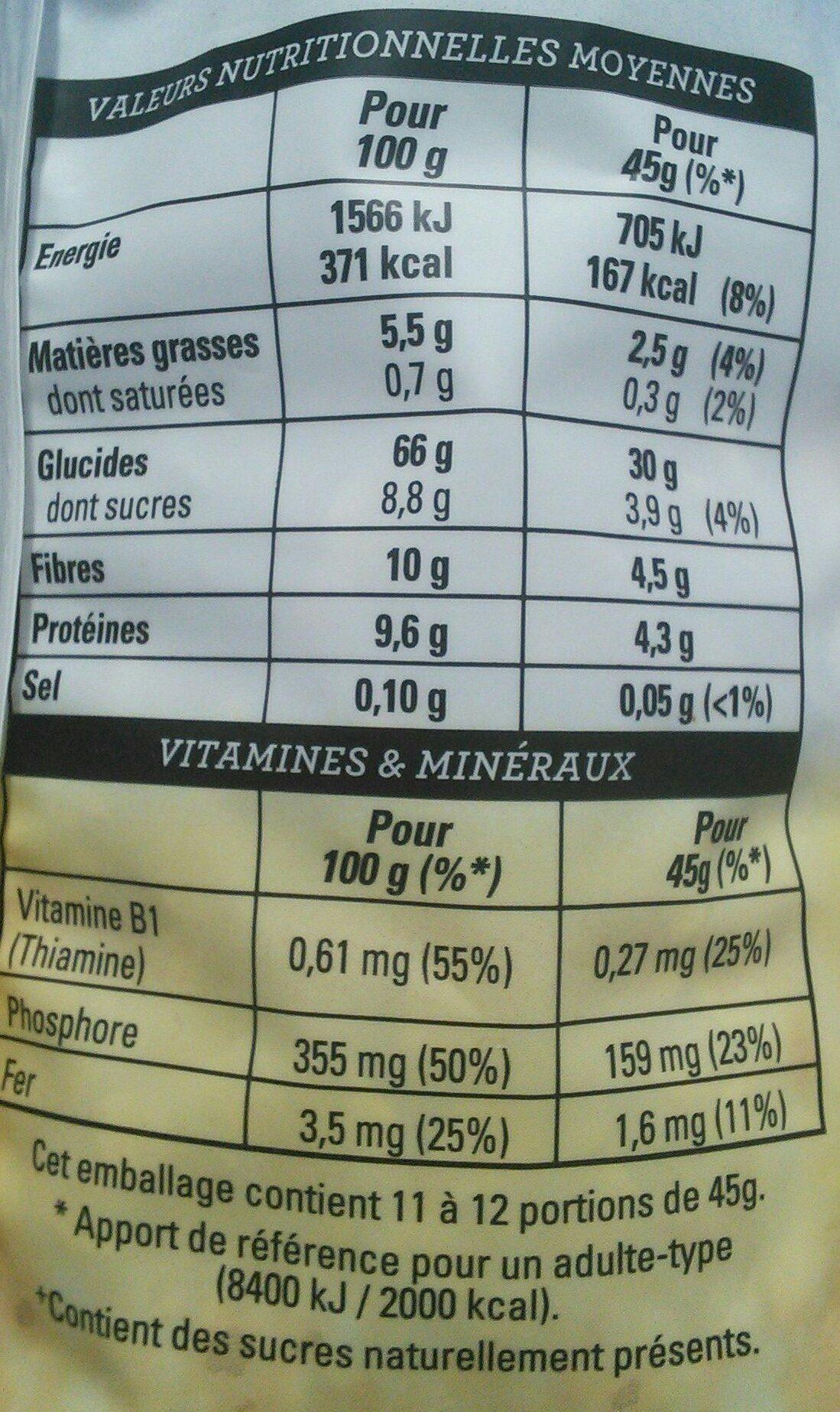 Golden Muesli (pommes, amandes) - Nutrition facts