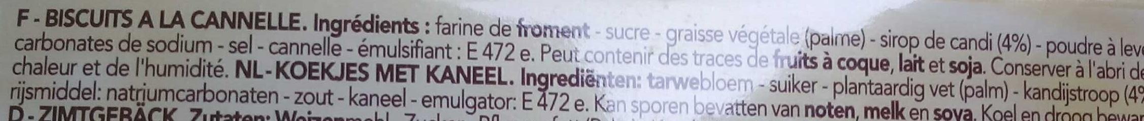 Delacre biscuits speculoos - Ingredienti - fr