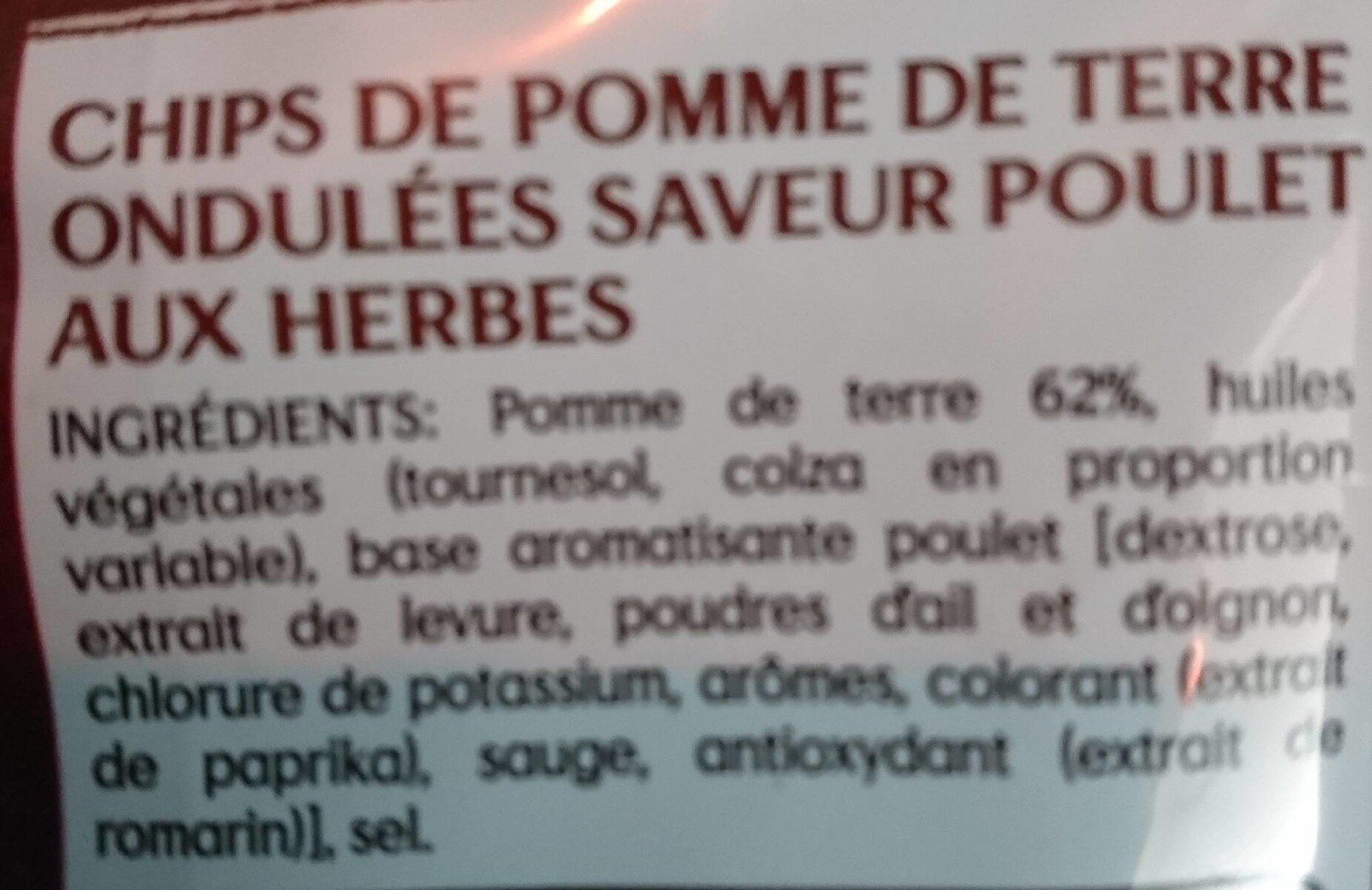 Lay's max saveur poulet aux herbes - Ingredienti - fr