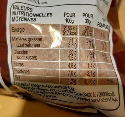 Lay's max saveur poulet aux herbes - Nutrition facts - fr