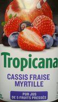 Tropicana cassis fraise myrtille - Product