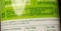 Tropicana cassis fraise myrtille - Ingredients