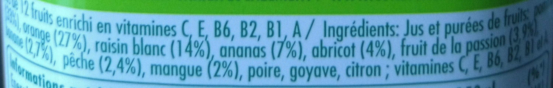 Multivitamines - Ingrediënten - fr