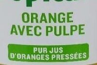 Tropicana Orange avec pulpe - Ingrédients - fr