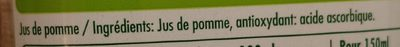 Jus de pommes pressées - Ingrédients - fr