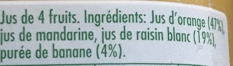 Tropicana Douceur du matin - Ingredients - fr
