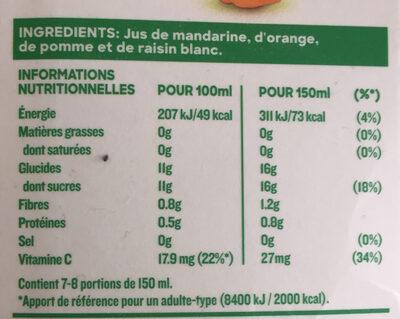 Tropicana pure premium - Ingredients